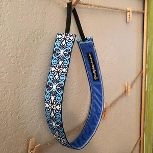 "🖤SALE! NWOT ""X"" Woven Non-Slip headband in Blue"